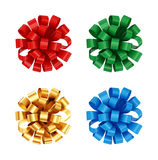 Colorful bows set. Royalty Free Stock Photo