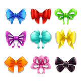 Colorful bows set Royalty Free Stock Image