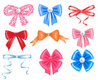 Colorful bows Stock Photography