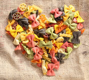 Colorful Bowtie Pasta Heart Royalty Free Stock Image