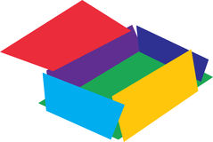 Colorful box with lid Royalty Free Stock Image