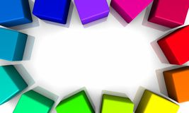 Colorful boxes Royalty Free Stock Image