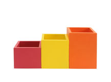 Colorful boxes isolated on white Royalty Free Stock Image