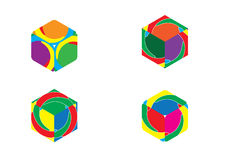 Colorful Boxes Vector Set Icon Stock Image