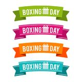 Colorful Boxing Day ribbons. Eps10 Vector. Colorful Boxing Day ribbons. Eps10 Vector illustration vector illustration