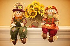 Scarecrow children Royalty Free Stock Images