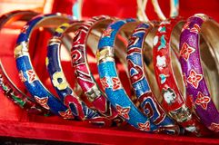 Colorful bracelet royalty free stock photos