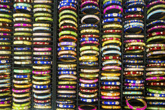 Colorful bracelet in jewelry shop Royalty Free Stock Photo