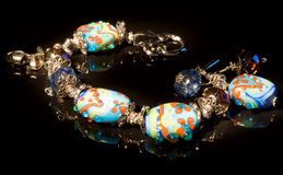 Colorful bracelet, light painting, XXL Royalty Free Stock Images
