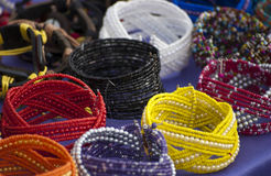 Colorful bracelets Stock Photography