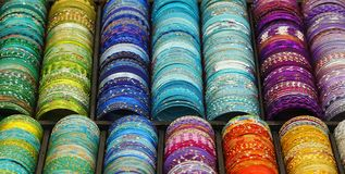 Colorful bracelets Stock Photo