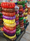 Colorful bracelets Also know as chudi in india Royalty Free Stock Photos