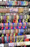 Colorful bracelets on display Royalty Free Stock Photos