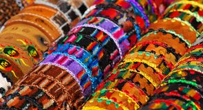 Colorful bracelets Royalty Free Stock Images