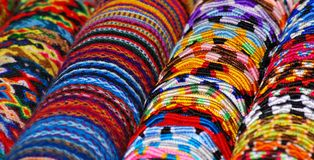 Colorful bracelets Stock Images