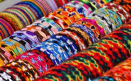Colorful bracelets Stock Photo