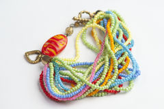 Colorful bracelets and necklaces Royalty Free Stock Photos