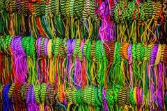 Colorful bracelets. Photo of colorful bracelet sold at the market Stock Image