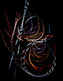 Colorful braided fibers. Abstract composition, illustration Royalty Free Stock Photography