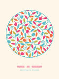 Colorful Branches Circle Decor Pattern Background Royalty Free Stock Images