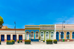 Colorful Brazilian colonial houses, South America Royalty Free Stock Photo