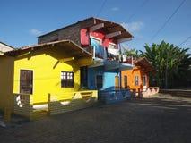 Colorful Brazilian Home Architecture Bahia Nordeste Royalty Free Stock Photos