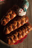 Colorful bread with winter decoration Royalty Free Stock Image