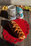 Colorful bread with winter decoration Royalty Free Stock Photo