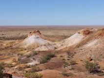 The colorful Breakaways  in the outback Australia Stock Photos