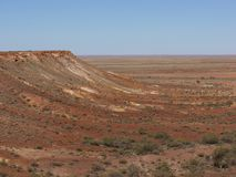 The colorful Breakaways  in the outback Australia Royalty Free Stock Images