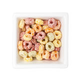 Colorful breakfast cereal Royalty Free Stock Photo