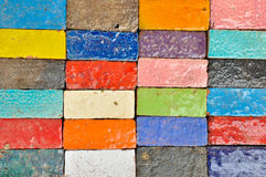 Colorful Brick Stock Photography