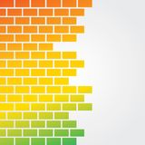Colorful brick background Royalty Free Stock Images