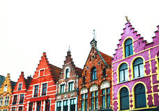 Colorful Brick Houses In Bruges, Belgium. Stock Images