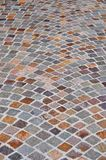 Colorful brick cobblestone squares background Royalty Free Stock Photo