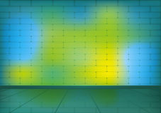 Colorful brick room for background Stock Image