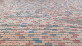 Colorful Brick Stone Street Road. Sidewalk, Pavement Texture Background Royalty Free Stock Image