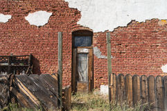 Colorful brick and stucco wall Royalty Free Stock Photography