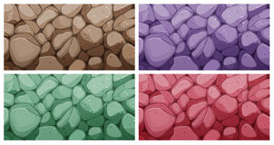 Colorful brick textures Royalty Free Stock Photos