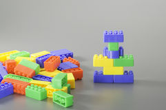 Colorful Brick toy Stock Photography