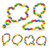 Colorful brick toys bubbles. Royalty Free Stock Photography