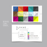 Colorful brick vector business card set. Template design Stock Image