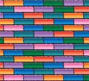 Colorful brick wall Stock Photos
