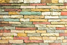 Colorful of the brick wall Stock Images
