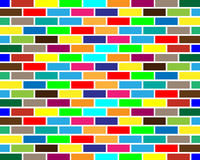 Colorful brick wall background. Seamless colorful brick wall background Royalty Free Stock Photography