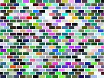 Colorful brick wall background Royalty Free Stock Photo