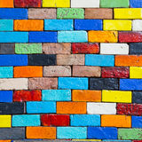 Colorful brick wall background Royalty Free Stock Images