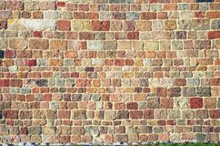 Colorful brick wall background. A texture background ot the colorful brick wall Stock Photos