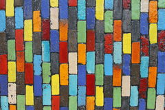 Colorful brick wall Stock Photo