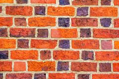 Colorful brick wall. Of old building, abstract background Stock Images